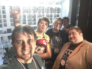 The Game Brass in the elevator at MAGfest 2018